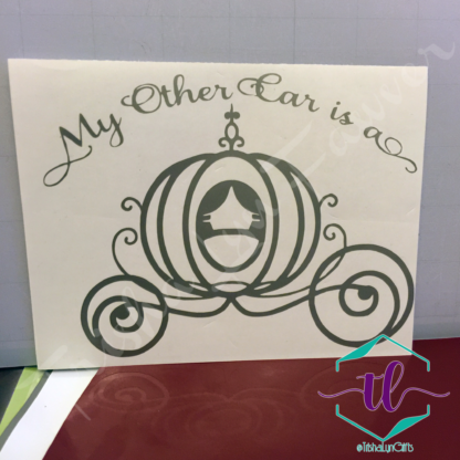 My Other Car is a Carriage Vinyl Decal in Silver