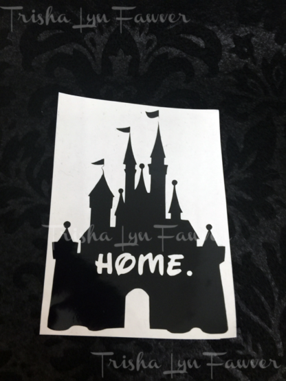 Disney Castle Home Decal in Black