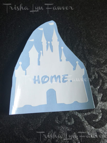 Disney Castle Home Decal in White