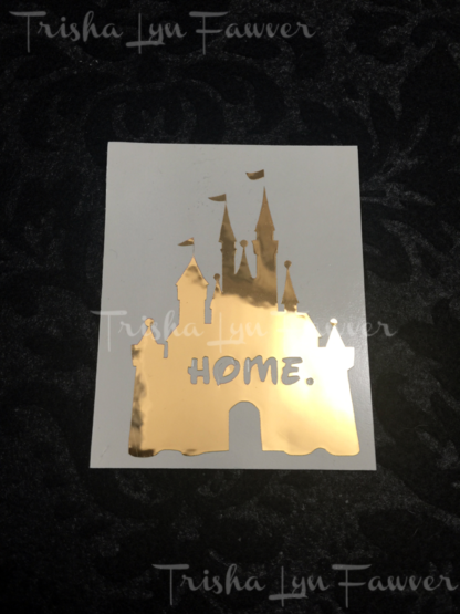 Disney Castle Home Decal in Gold Mirror