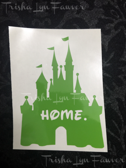 Disney Castle Home Decal in Light Green