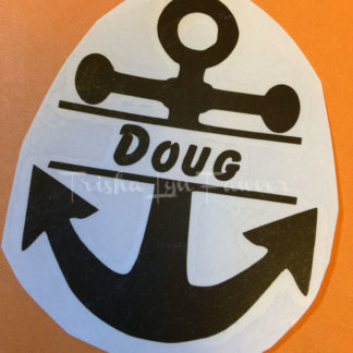 Personalized Split Anchor Vinyl Decal
