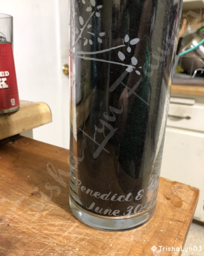 Customized Etched Birch Tree Vase