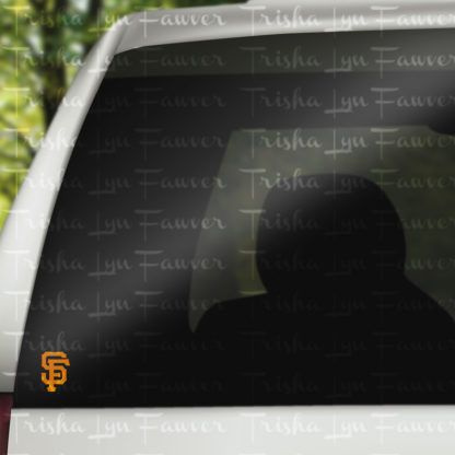 San Francisco Giants Decal in Orange
