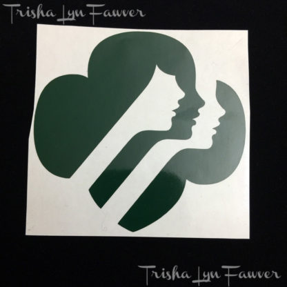 Girl Scout Trefoil Decal in Dark Green