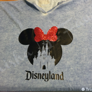 Disneyland Castle Mouse Iron-On Decal in Minnie