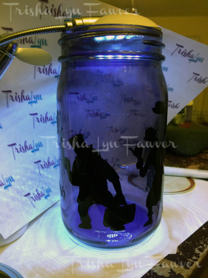 Hitchhiking Ghosts Mason Jar Luminary