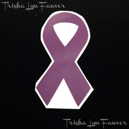Cause Awareness Ribbon Vinyl Decal in Purple