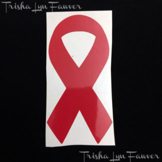 Cause Awareness Ribbon Vinyl Decal in Red