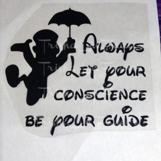 Jiminy Cricket Conscience Iron-On Decal