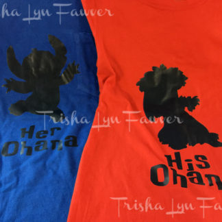 His & Her Ohana Iron-On Decal
