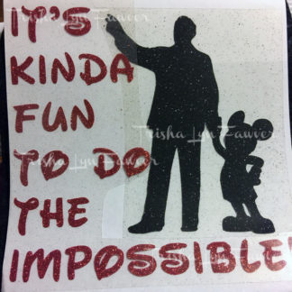Do The Impossible Iron-On Decal