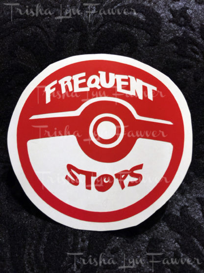 Pokemon GO Frequent Stops Vinyl Decal in Red
