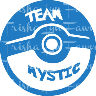 Pokemon GO Team Mystic Vinyl Decal
