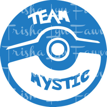 Pokemon GO Team Mystic Vinyl Decal