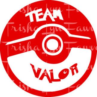 Pokemon GO Team Valor Vinyl Decal