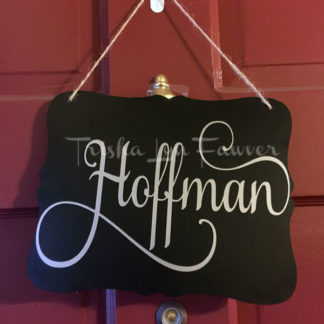 Personalized Home Decor Sign