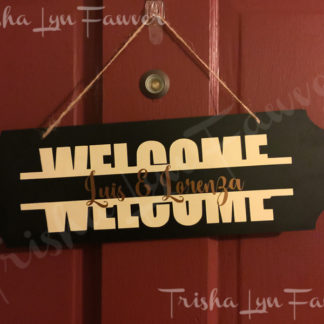 Personalized Vinyl Welcome Decal