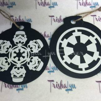 Star Wars Snowflake Ornaments - Imperial Cog & Stormtrooper