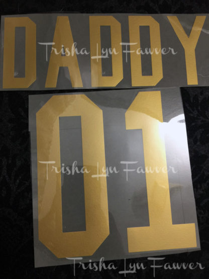 Team Family Iron-On Decals