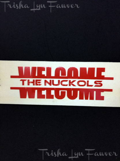 Welcome Vinyl Decal in Red