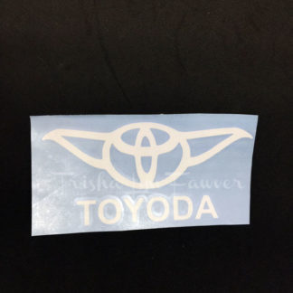 Toyoda Vinyl Decal in White