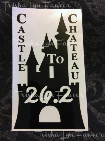 Castle to Chateau Marathon Distance Decal in Black