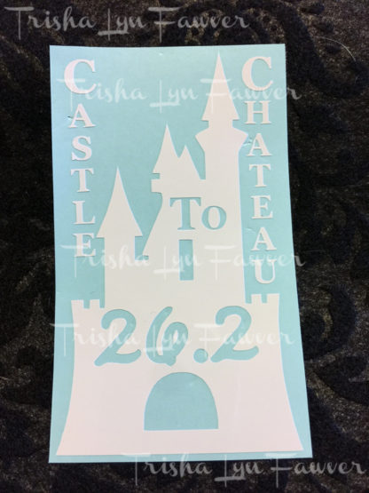 Castle to Chateau Marathon Distance Decal in White