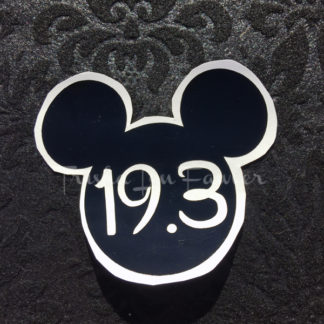 Mickey Marathon Distance Decal in Black 19.3