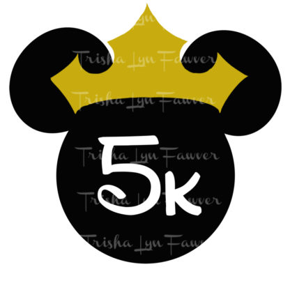 Princess Marathon Distance Decal in Black 5k