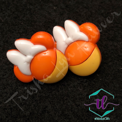 Candy Corn Mickey & Minnie Post Back Earrings