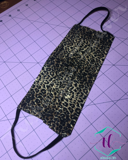 Cloth Surgical Style Mask - Leopard Print