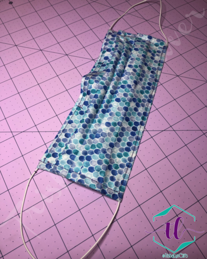 Cloth Surgical Style Mask - Small Mermaid Scales