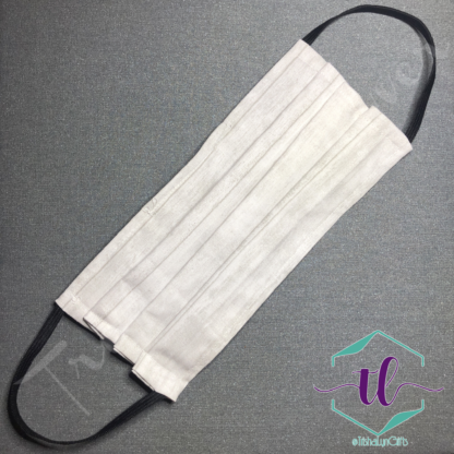 Cloth Surgical Style Mask - White Planks