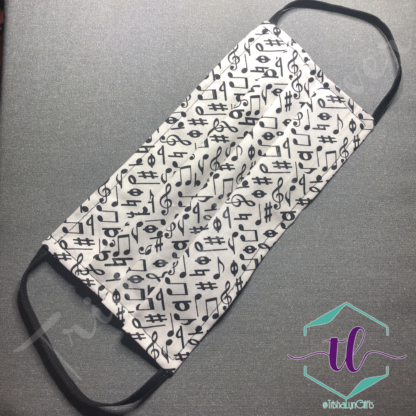 Cloth Surgical Style Mask - Music Notes