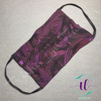 Cloth Surgical Style Mask - Magenta Swirl