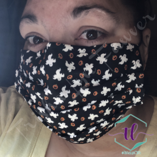 Cloth Surgical Style Mask - Ghosts & Pumpkins