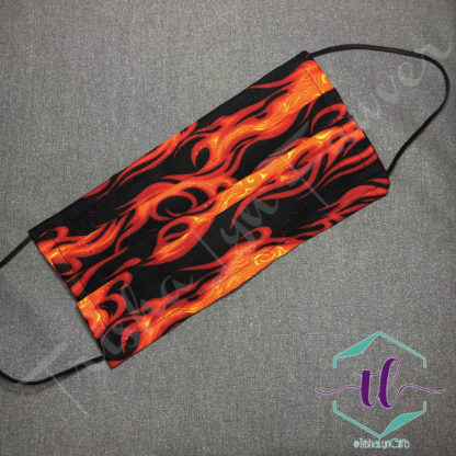 Cloth Surgical Style Mask - Thin Flames