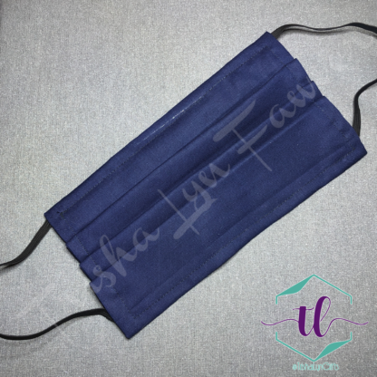 Cloth Surgical Style Mask - Dark Blue