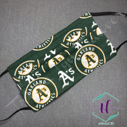 Cloth Surgical Style Mask - Oakland A's