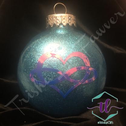 Custom Glitter Ornaments in Turquoise