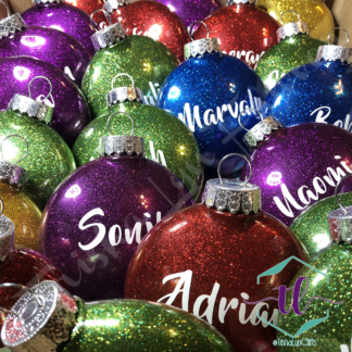 Custom Glitter Ornaments