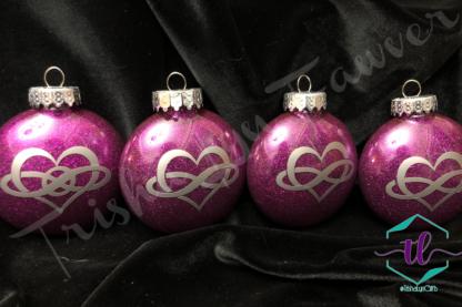 Custom Glitter Ornaments in Purple
